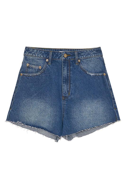 Farrah Denim Short in Vintage Blue