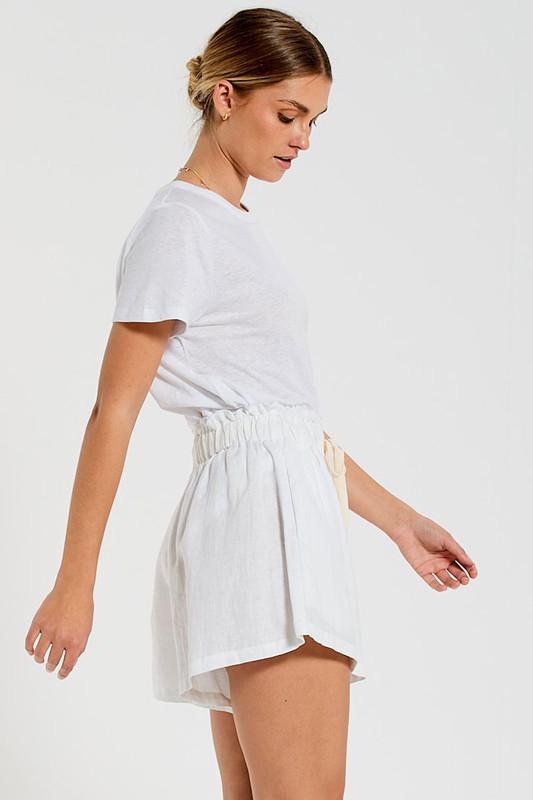 Paper Bag Short in White