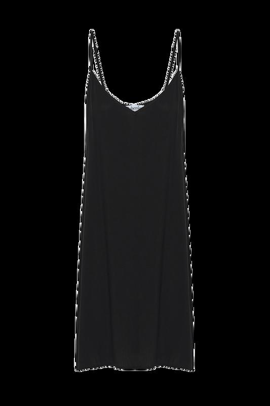 Midi Slip in Black Rayon