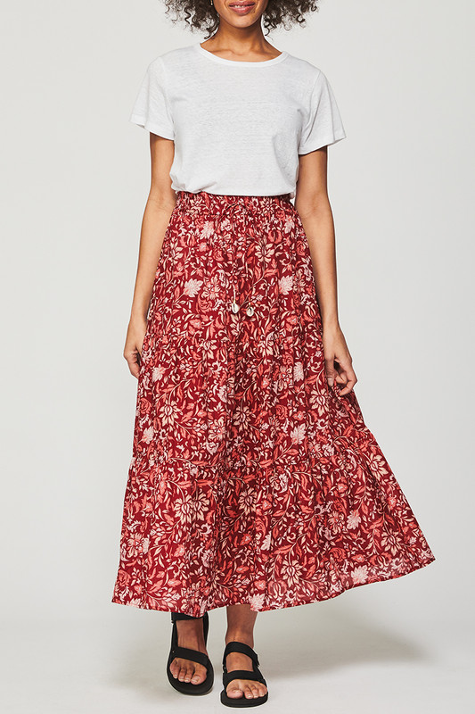 Tiered Maxi Skirt in Lovefool