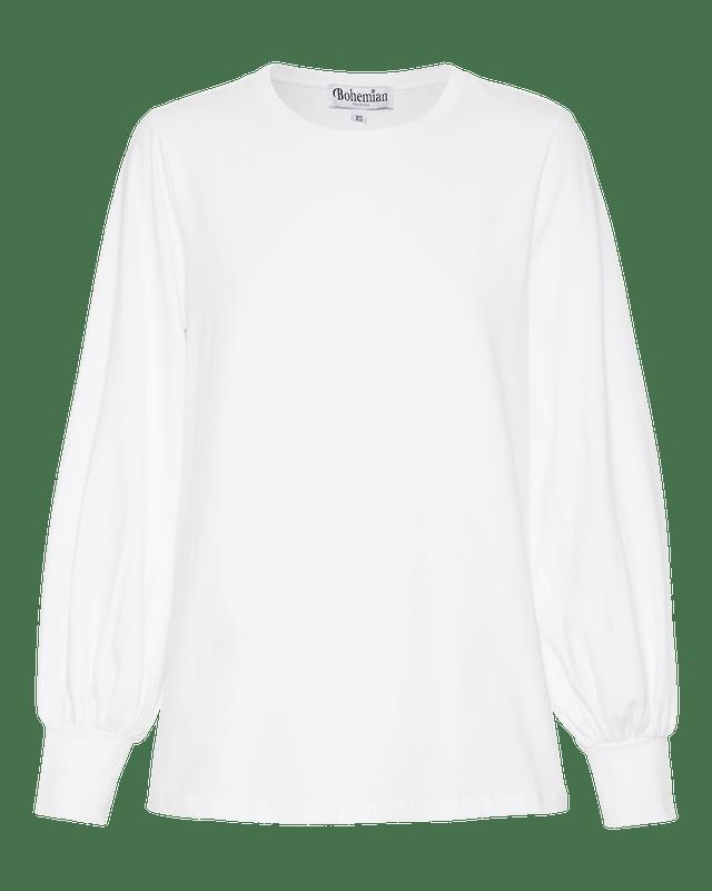 Billow Sleeve Swing Tee In White