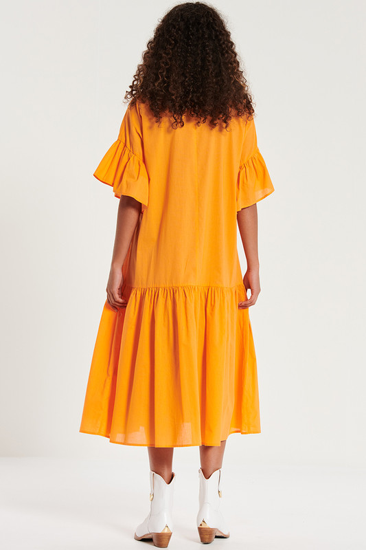 Genoa Midi Dress in Marmalade