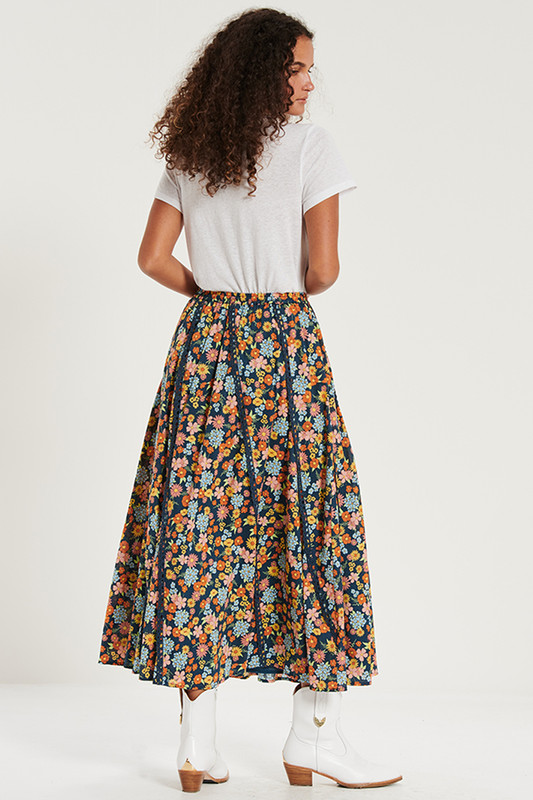 Trim Insert Maxi Skirt in Cosmic