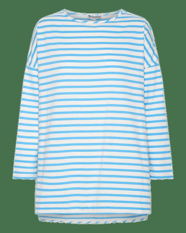 Boyfriend Swing Tee in Blue Stripe