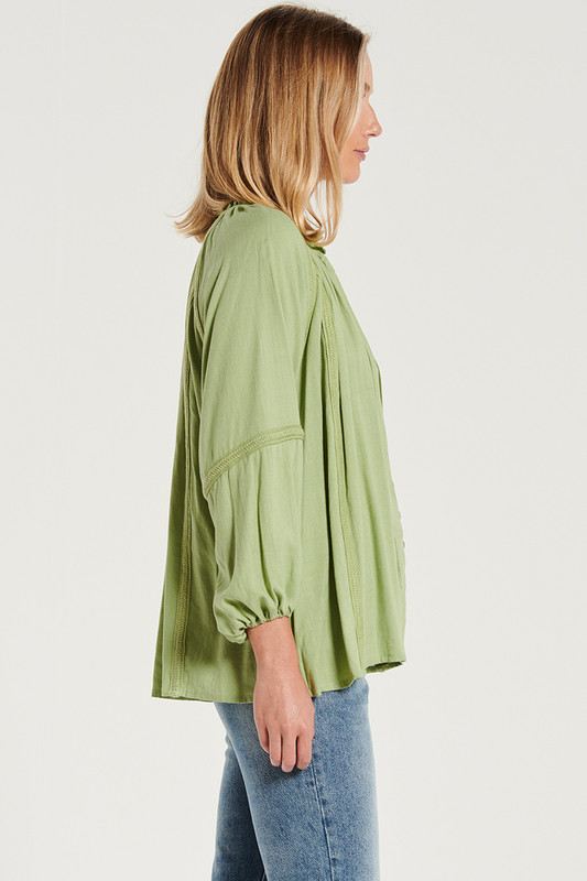 Braided Blouse in Sage