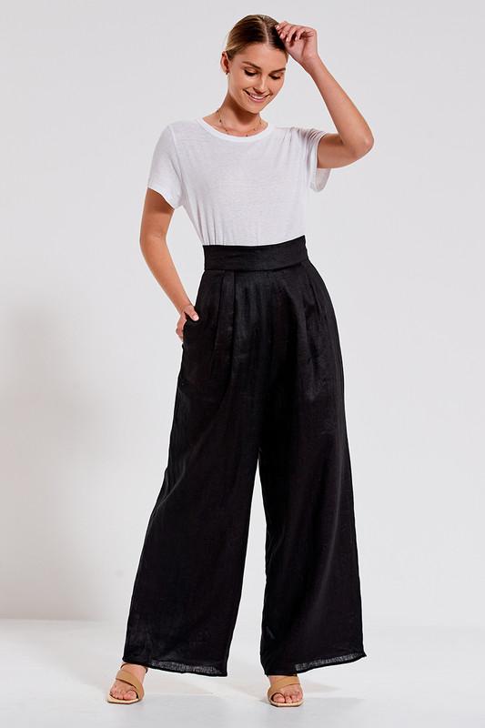 Tuxedo Pant in Black