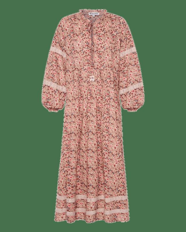 Pin Tuck Maxi Dress in Belle Flower