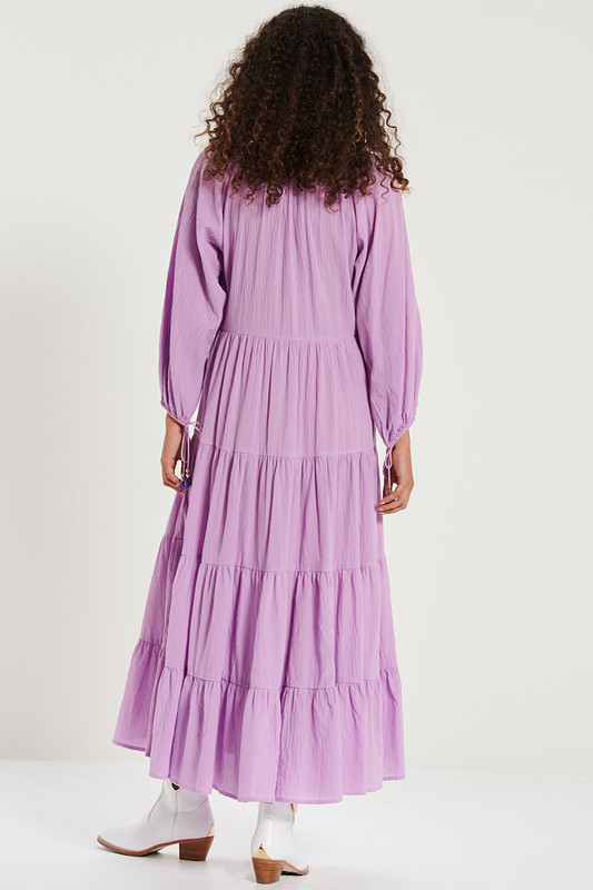 Tiered Maxi Dress  in Lavender