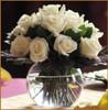White Rose Bubble Bowl Centerpiece