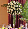 White Rose Elevated Centerpiece
