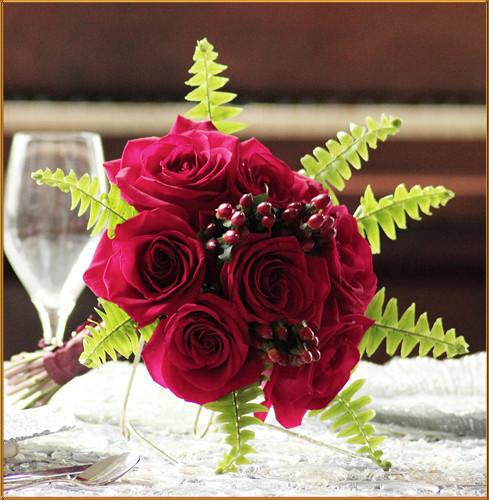 Cherry Love Bridesmaid Bouquet