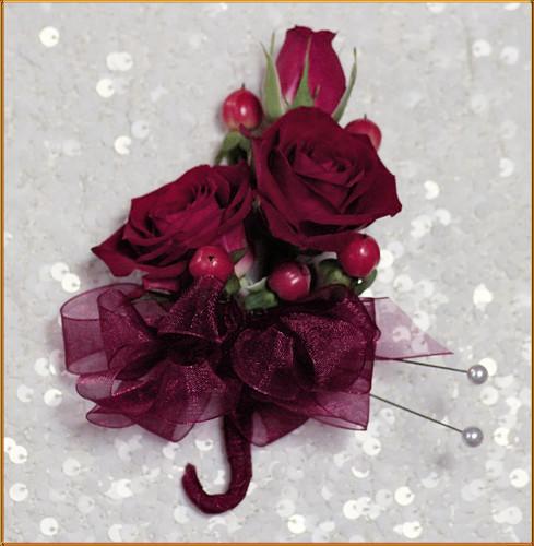 Cherry Love Corsage