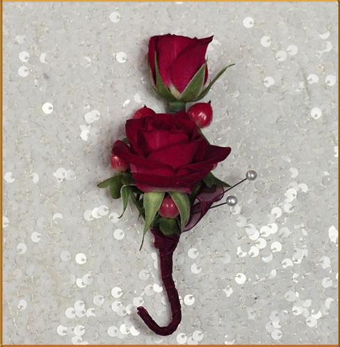 Cherry Love Boutonniere