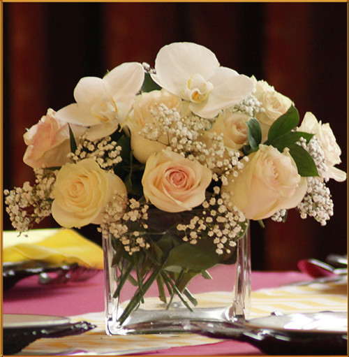 Blushing Grace - Cube Centerpiece