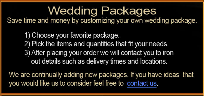 Wedding Package Instructions