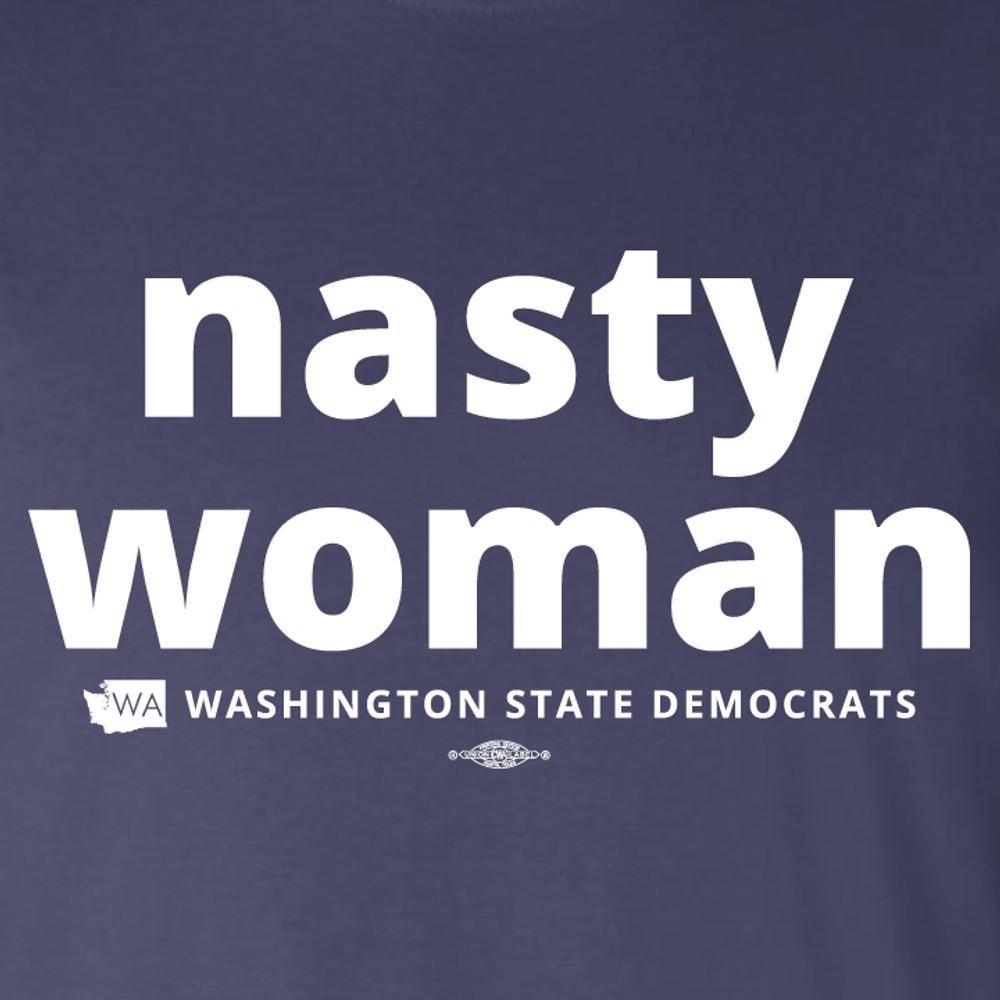 """Nasty Woman"" (Navy Tee)"