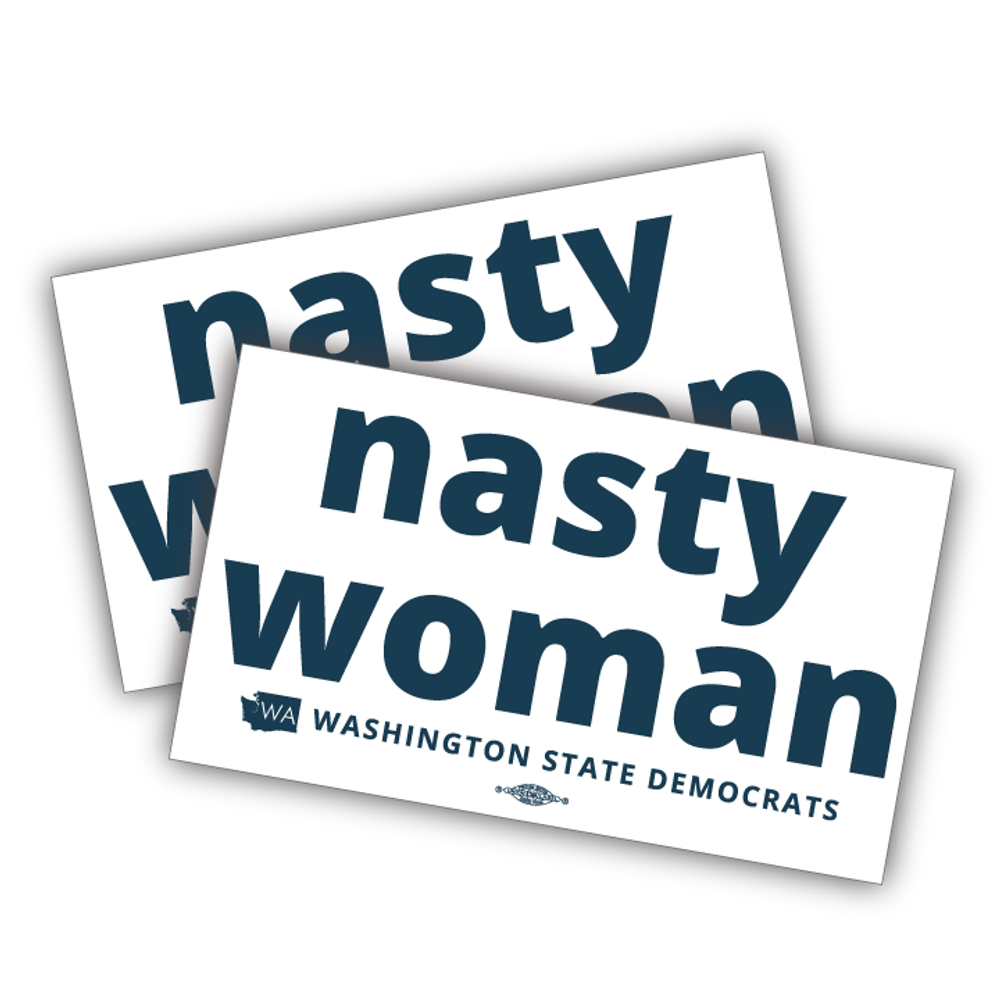 "Nasty Woman (6.5"" x 4"" Vinyl Sticker -- Pack of Two!)"