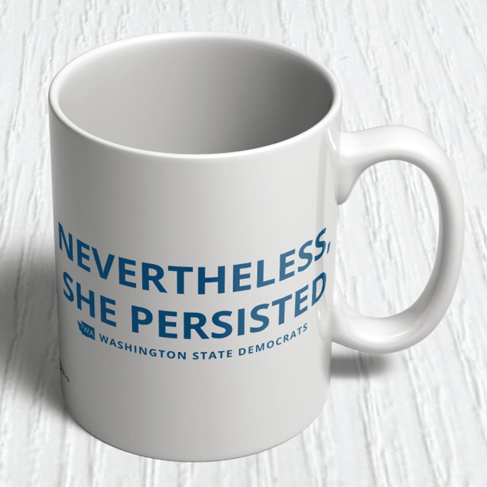 """Nevertheless, She Persisted"" logo graphic   (11oz. Coffee Mug)"