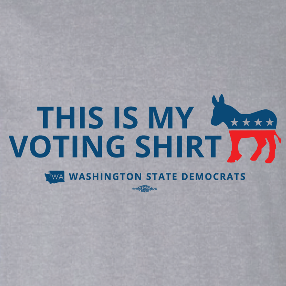 """""""This is my Voting Shirt"""" logo graphic (Athletic Heather Tee)"""
