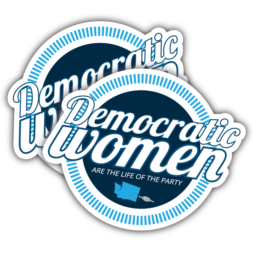 "Democratic Women (4"" x 3.5"" Vinyl Sticker -- Pack of Two!)"