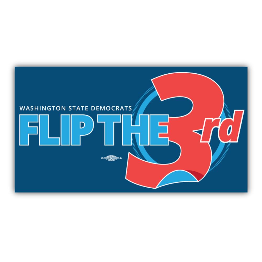 "Flip The 3rd (7"" x 4"" Vinyl Sticker)"