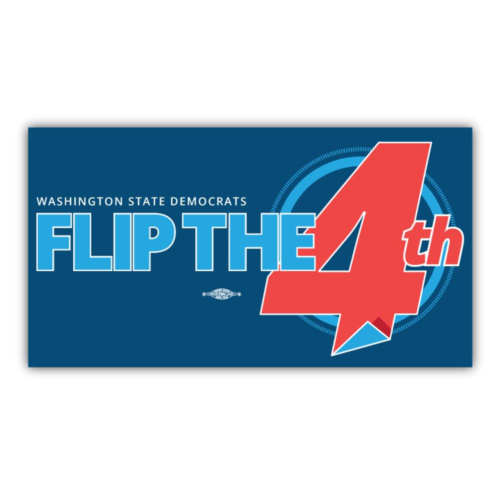 "Flip The 4th (7"" x 4"" Vinyl Sticker)"