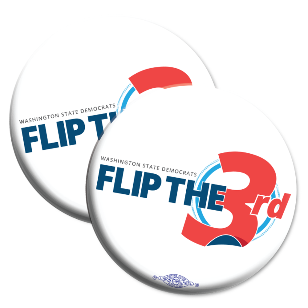 "Flip The 3rd (2.25"" Mylar Button -- Pack Of Two!)"