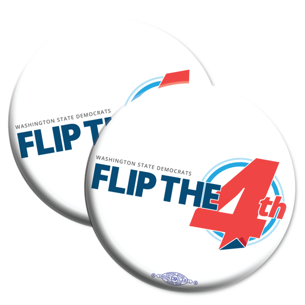 "Flip The 4th (2.25"" Mylar Button -- Pack Of Two!)"
