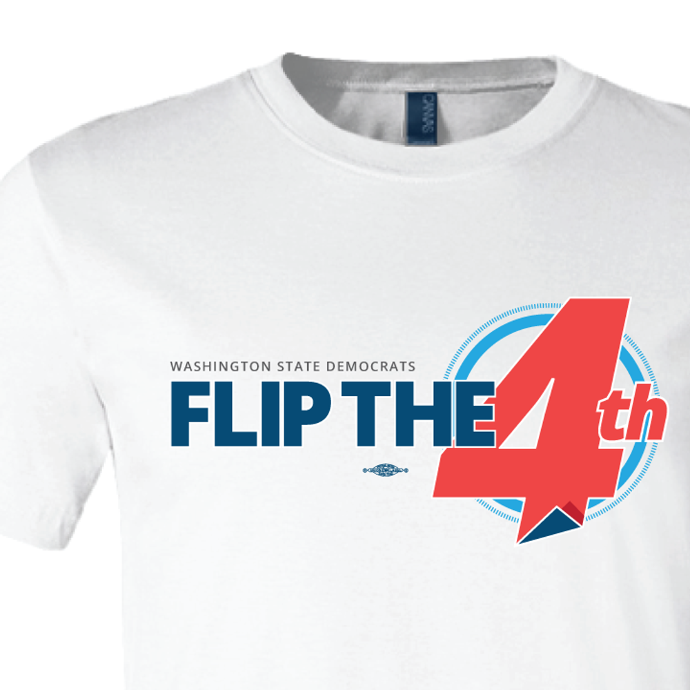 Flip The 4th (White Tee)