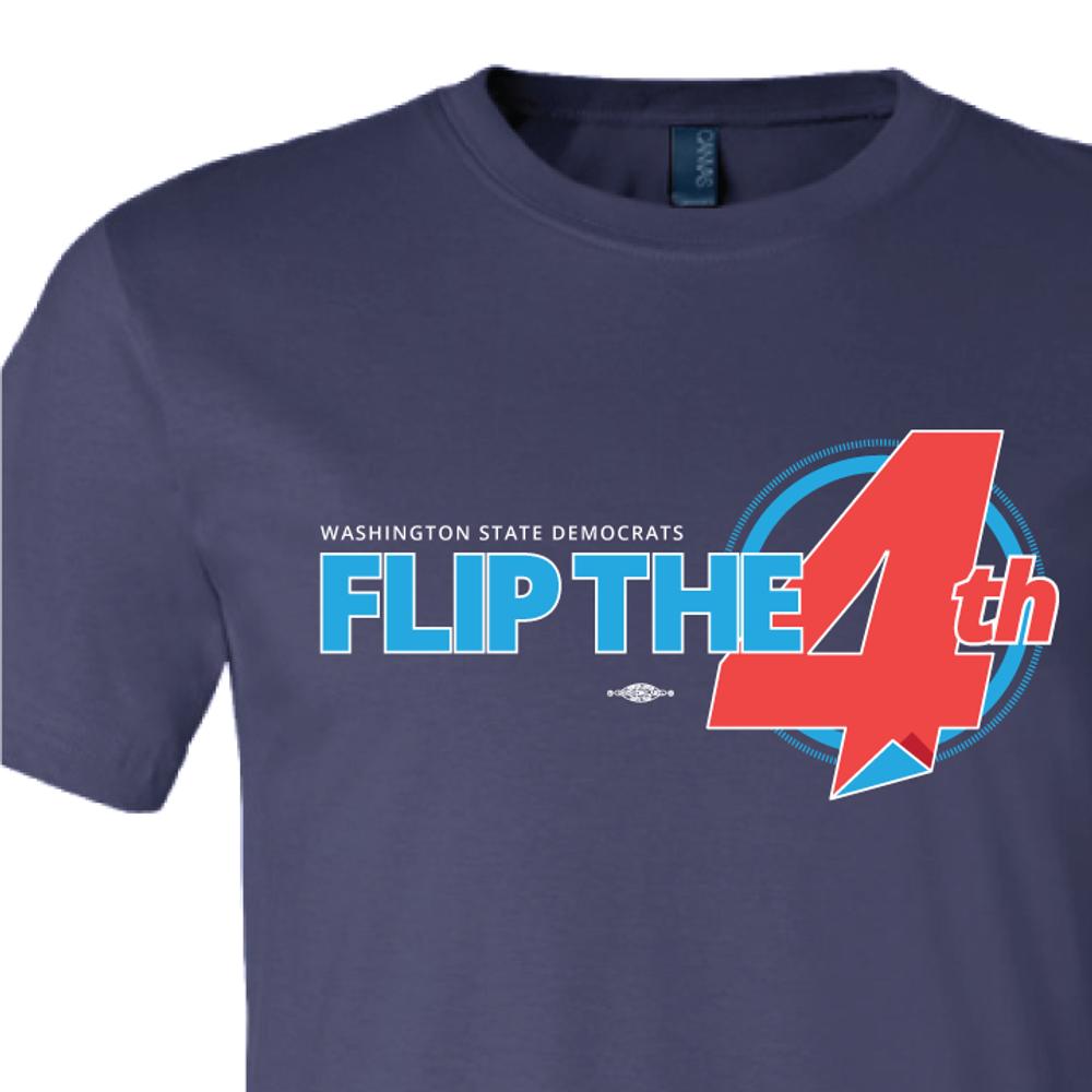 Flip The 4th (Navy Tee)