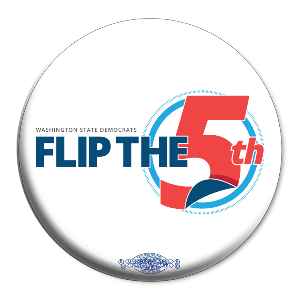 "Flip The 5th (2.25"" Mylar Button -- Pack Of Two!)"