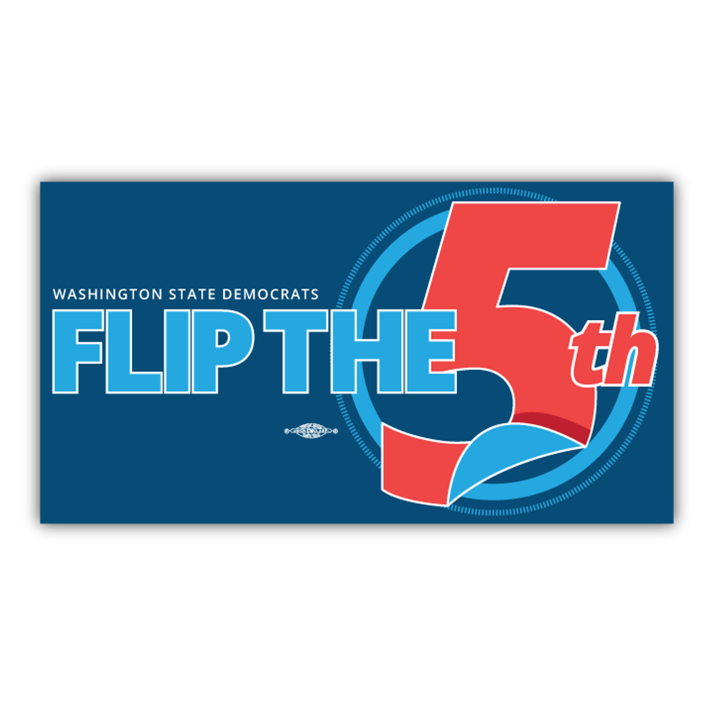 """Flip The 5th (7"""" x 4"""" Vinyl Sticker -- Pack of Two!)"""