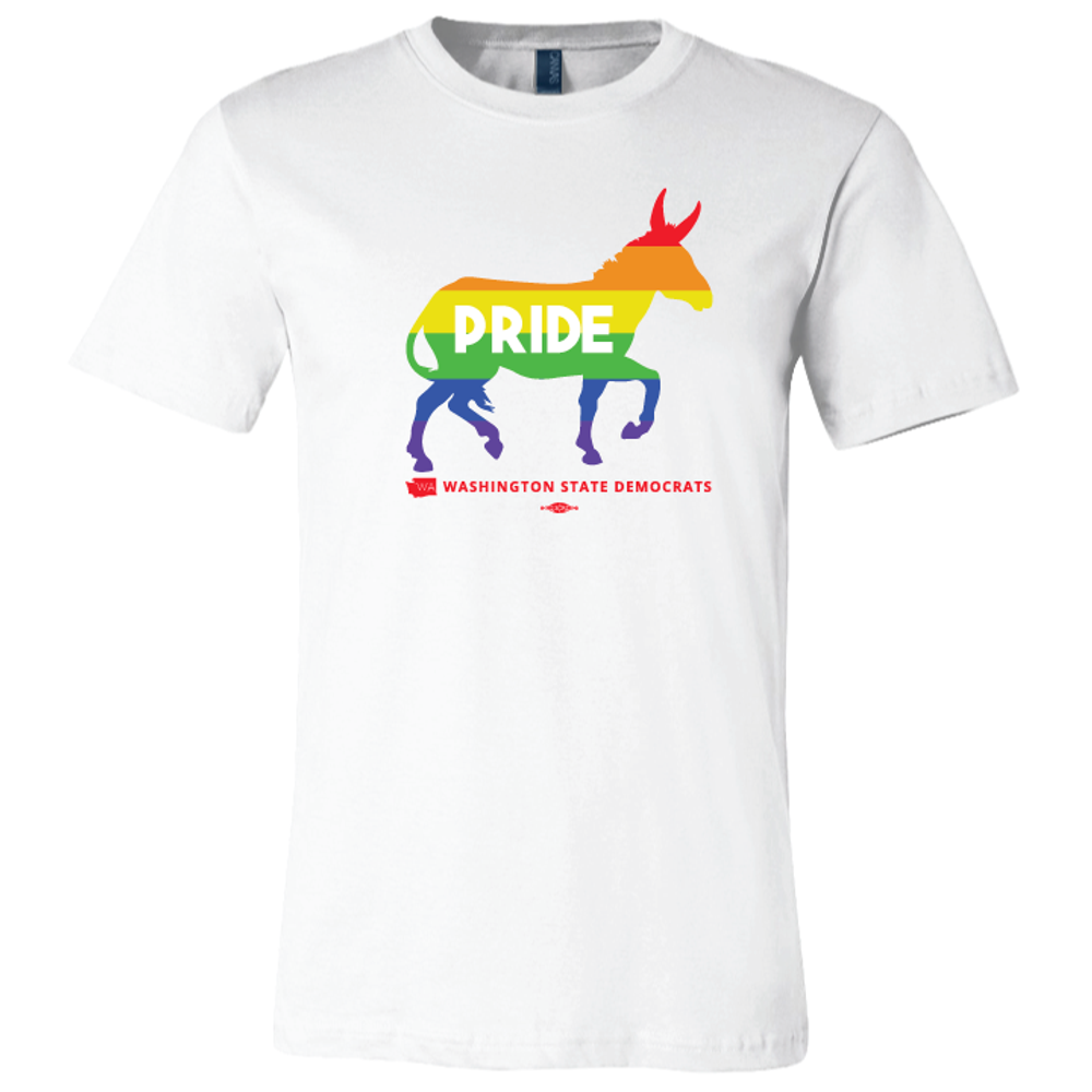 Pride Donkey Logo (White Tee)