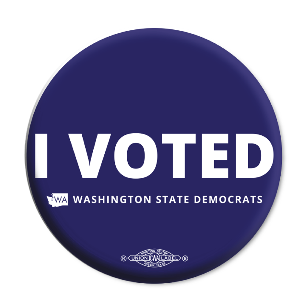 "I Voted (2.25"" Mylar Button -- Pack Of Two!)"