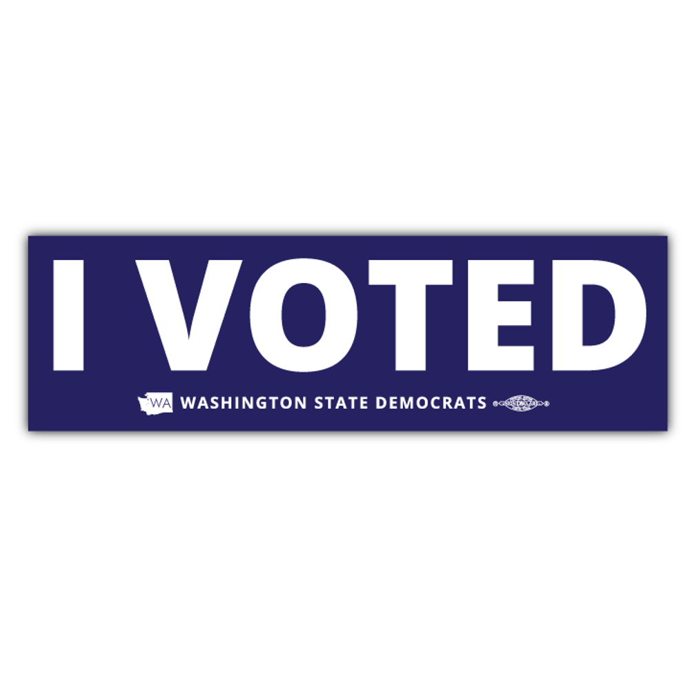 "I Voted (9"" x 3"" Vinyl Sticker)"