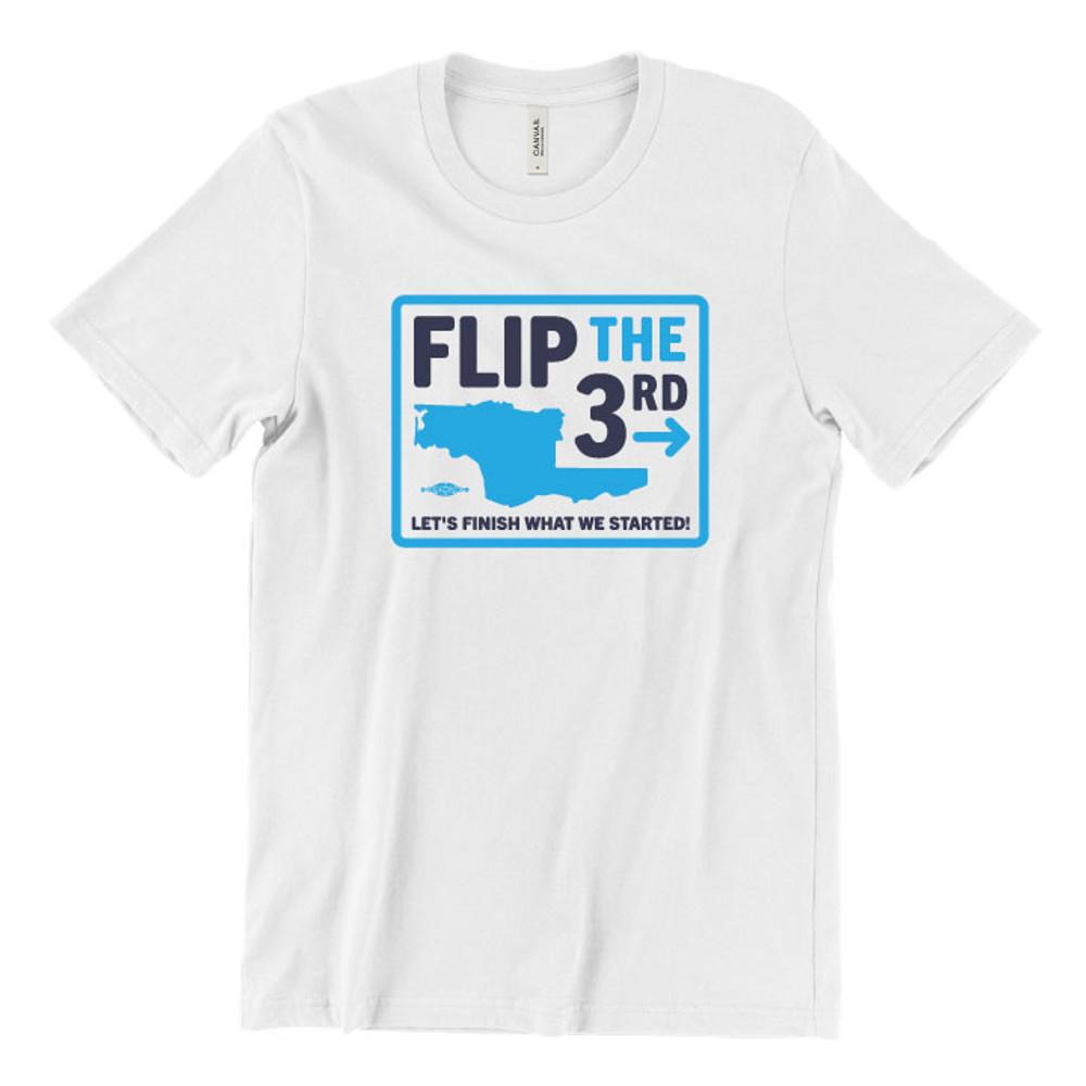 Flip The 3rd (Unisex White Tee)