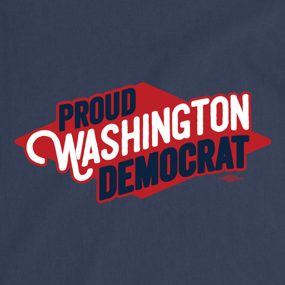 Proud Washington Democrat (Unisex Navy Tee)