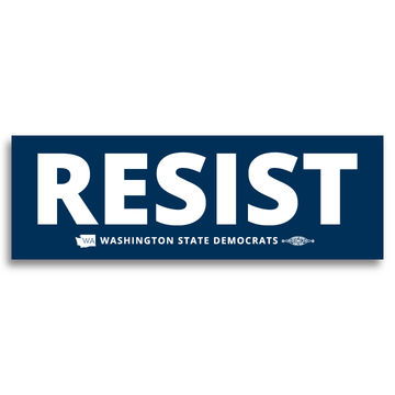 """Resist"" logo graphic on (9"" x3"" Vinyl Sticker -- Pack of Two!)"