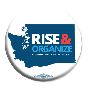"Rise And Organize (2.25"" Mylar Button -- Pack Of Two!)"