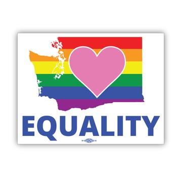 "Equality Washington Democrat  (6"" x 4.5"" Vinyl Sticker -- Pack of Two!)"