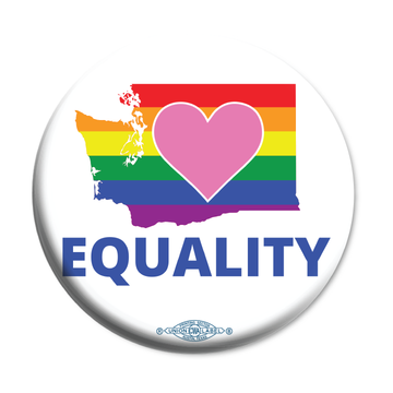 "Equality Washington Democrat  (2.25"" Mylar Button -- Pack Of Two!)"