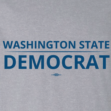 """Washington State Democrat"" logo graphic on (Athletic Heather Tee)"