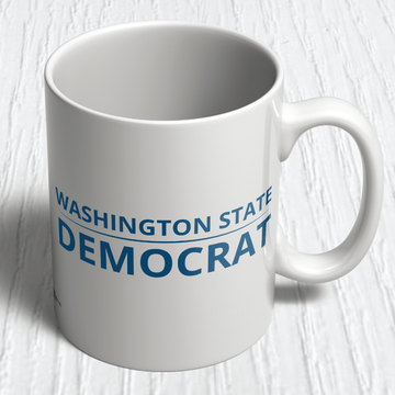 """Washington State Democrat"" logo graphic  (11oz. Coffee Mug)"