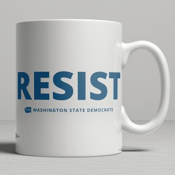 """""""Resist"""" logo graphic (11oz. Coffee Mug)"""