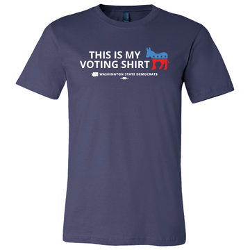 """This is my Voting Shirt"" logo graphic (Navy Tee)"