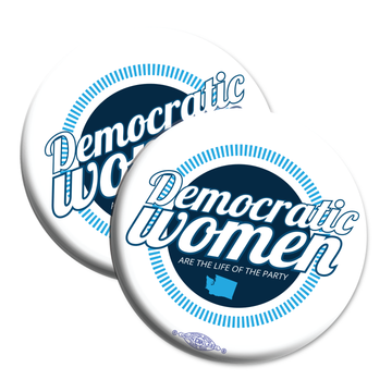 "Democratic Women (2.25"" Mylar Button -- Pack Of Two!)"
