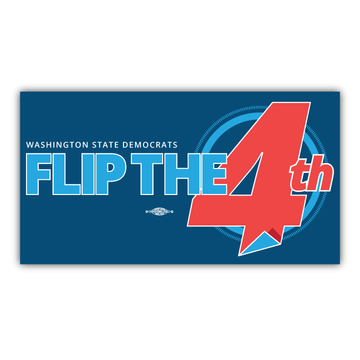 """Flip The 4th (7"""" x 4"""" Vinyl Sticker -- Pack of Two!)"""
