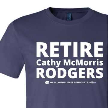"""Retire Cathy McMorris Rodgers"" (Navy Tee)"