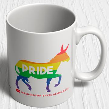 Pride Donkey Logo (11oz. Coffee Mug)