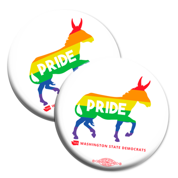 "Pride Donkey Logo (2.25"" Mylar Button -- Pack Of Two!)"
